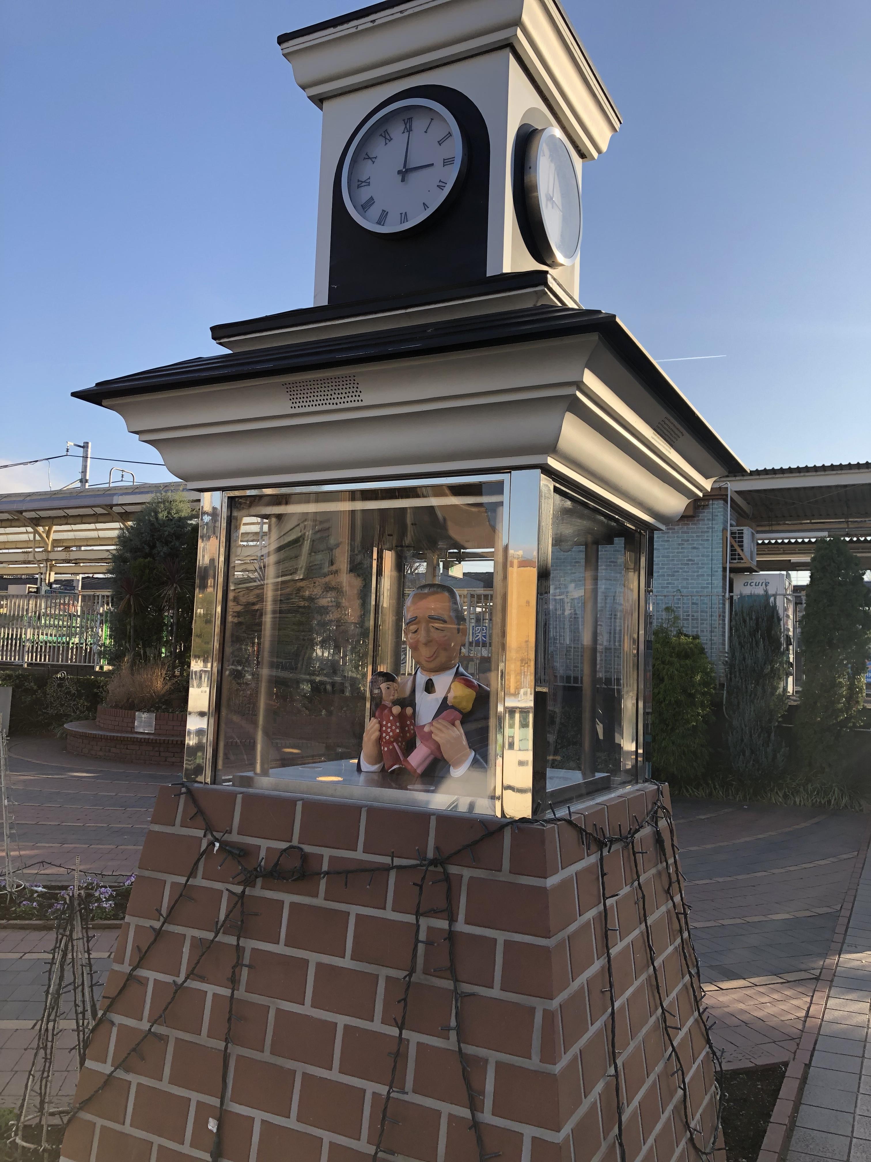 渋沢栄一さんのからくり時計
