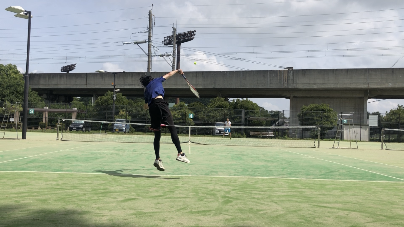 深谷でテニス