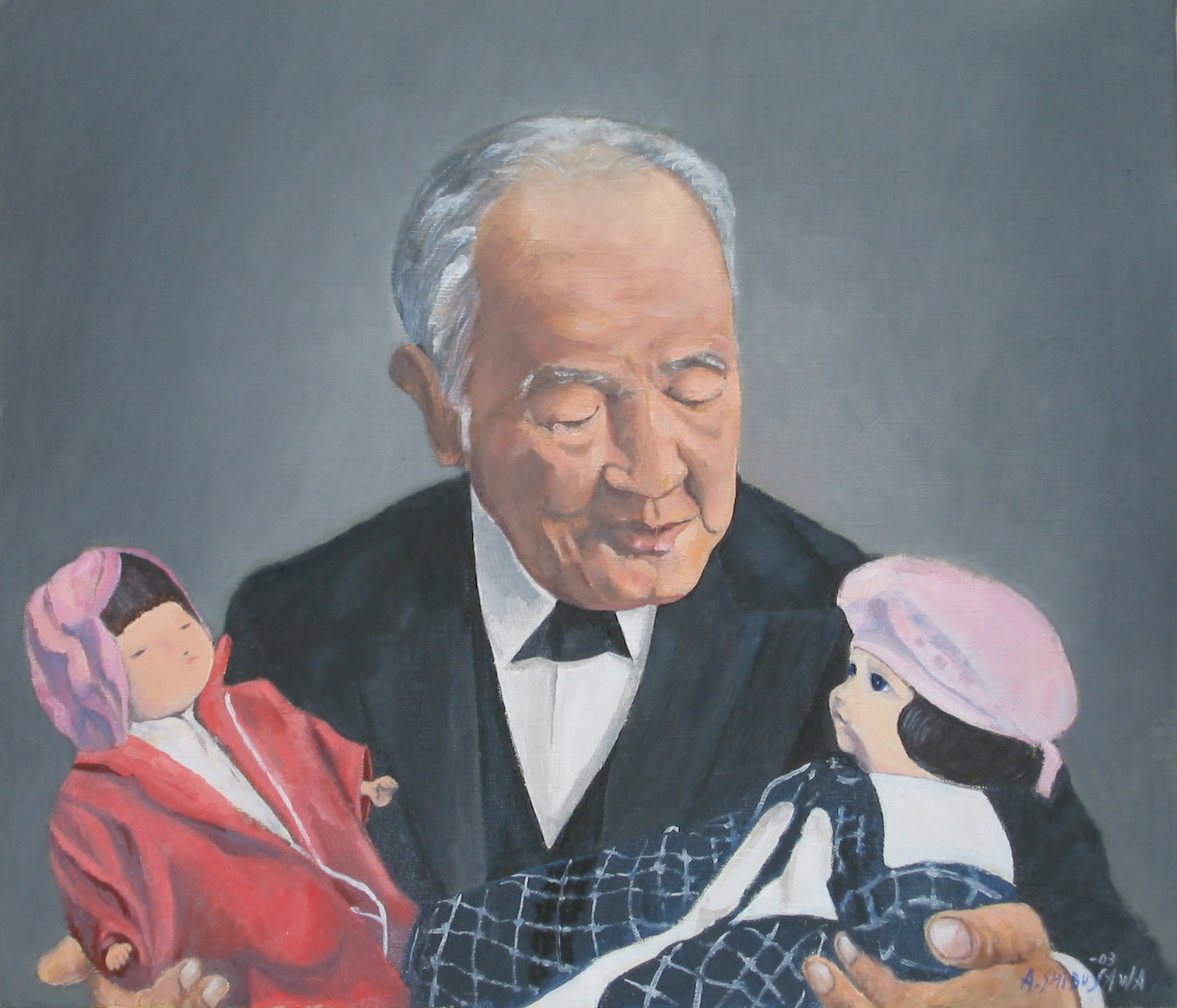 油絵で見る渋沢栄一の生涯 29青い目の人形