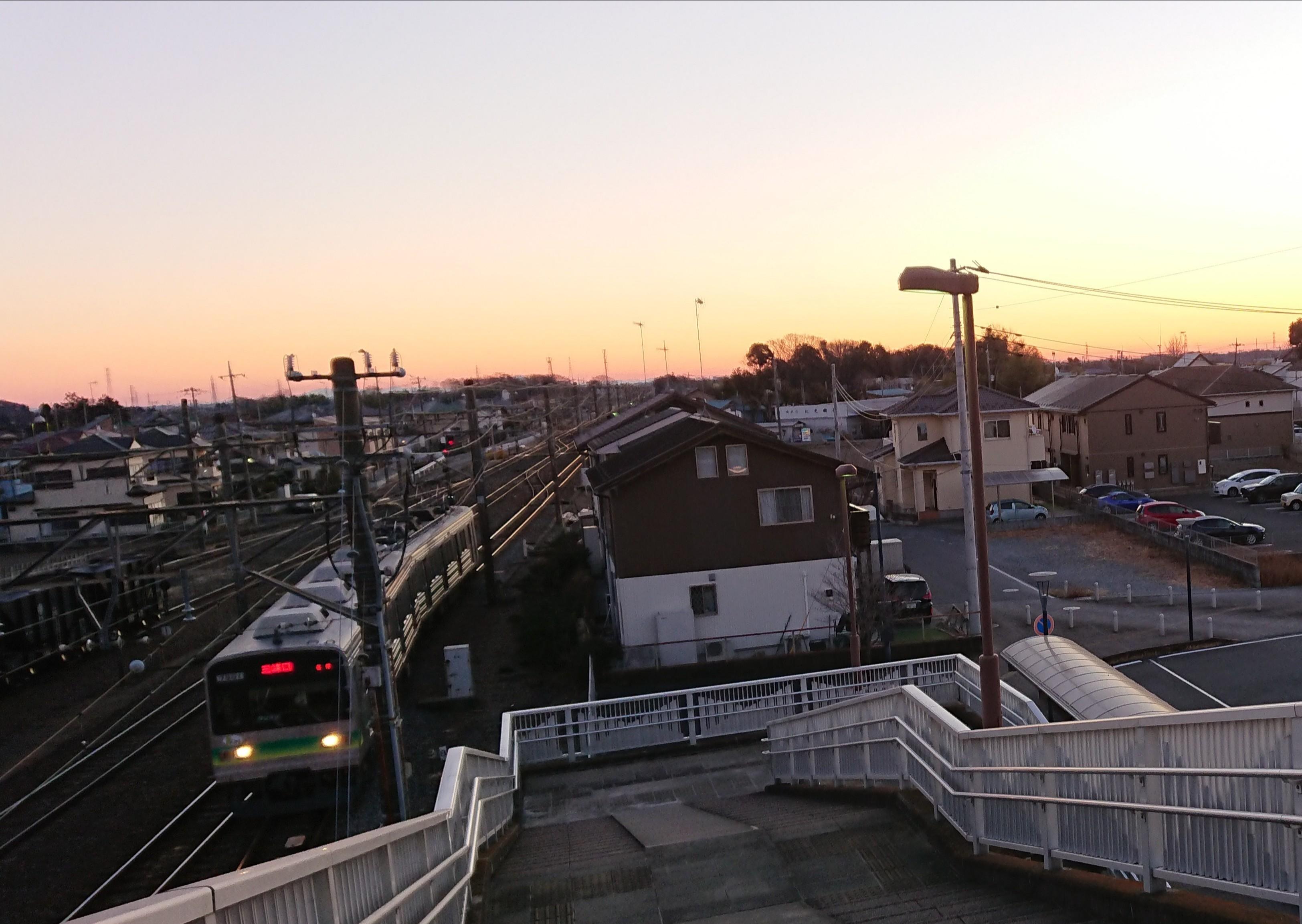 日の出と秩父鉄道