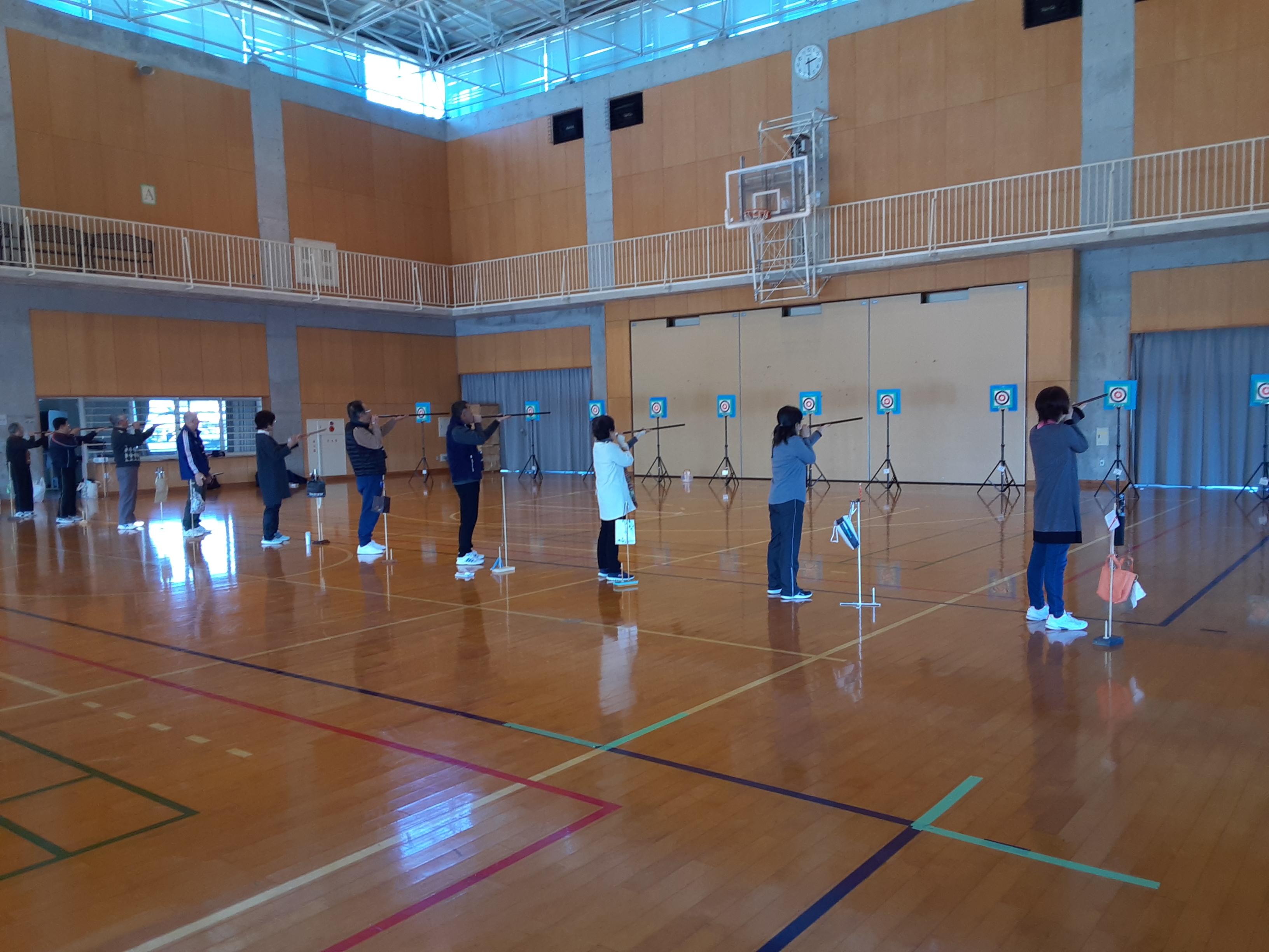 スポーツウェルネス吹矢練習